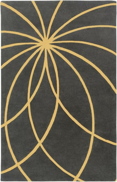 Forum Modern Moss Gold Fabric Area Rug (L 96 X W 60) FM7181-58