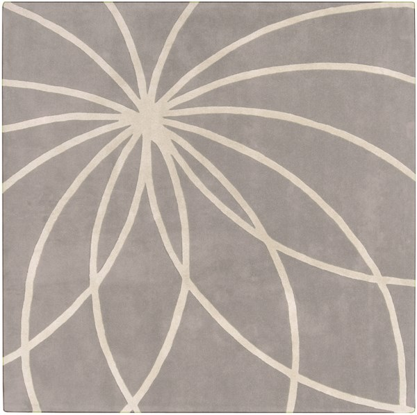 Forum Modern Beige Gray Wool Area Rug (L 96 X W 96) FM7184-8SQ