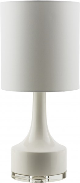 Farris Contemporary White Ceramic Cotton Table Lamps 13907-VAR1