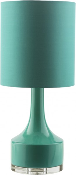 Farris Contemporary Green Ceramic Cotton Table Lamp (W 11 X H 24.5) FRR358-TBL