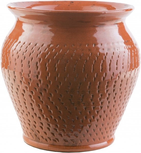 Fiesta Contemporary Rust Ceramic Pot (L 14.6 X W 14.6 X H 11.8) FSA722-M