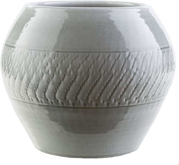 Fiesta Contemporary Light Gray Ceramic Ceramic Pot FIESTA-DCR-BNDL