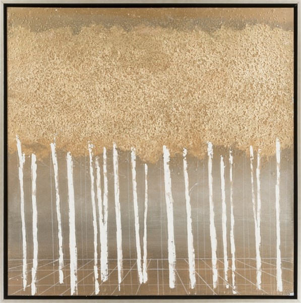 Foster Hand-painted Canvas With Texture Canvas Wall Art - 36x36 FST4000-3636