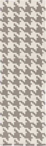 Frontier Contemporary Ivory Taupe Wool Runner (L 96 X W 30) FT106-268