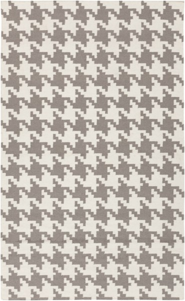 Frontier Contemporary Ivory Taupe Wool Area Rug (L 96 X W 60) FT106-58