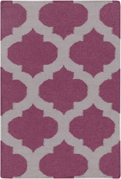 Frontier Contemporary Violet Gray Fabric Area Rug (L 36 X W 24) FT115-23
