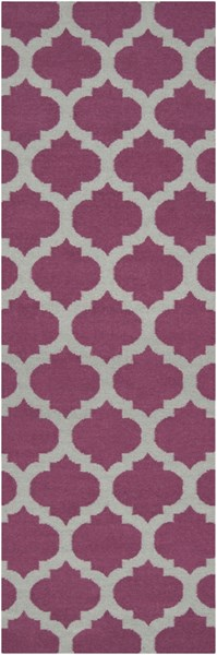 Frontier Contemporary Violet Gray Fabric Runner (L 96 X W 30) FT115-268