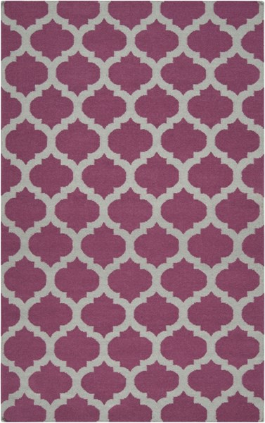 Frontier Contemporary Violet Gray Fabric Area Rug (L 96 X W 60) FT115-58