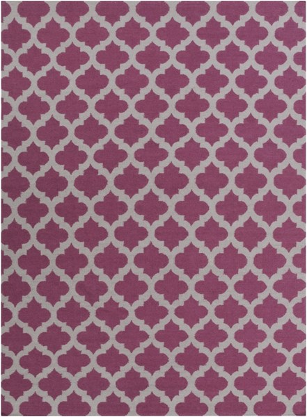 Frontier Contemporary Violet Gray Fabric Area Rug (L 132 X W 96) FT115-811
