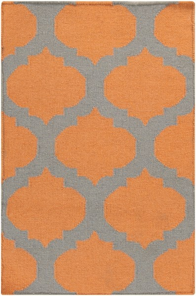 Frontier Contemporary Tangerine Gray Fabric Area Rug (L 36 X W 24) FT119-23