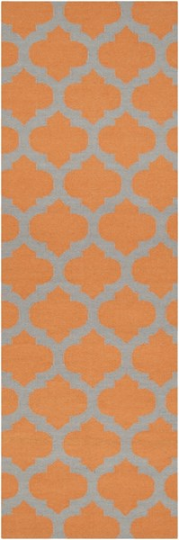 Frontier Contemporary Tangerine Gray Fabric Runner (L 96 X W 30) FT119-268