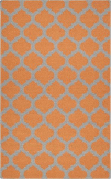 Frontier Contemporary Tangerine Gray Fabric Area Rug (L 96 X W 60) FT119-58