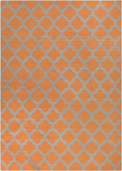 Frontier Contemporary Tangerine Gray Fabric Area Rug (L 132 X W 96) FT119-811