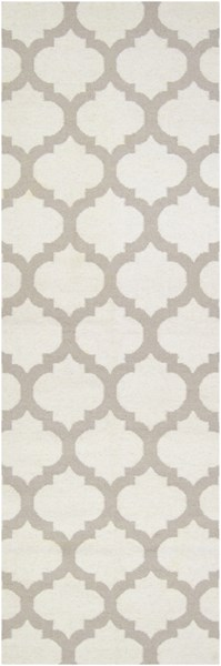 Frontier Contemporary Ivory Light Gray Fabric Runner (L 96 X W 30) FT120-268