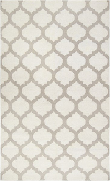 Frontier Contemporary Ivory Light Gray Fabric Area Rug (L 96 X W 60) FT120-58