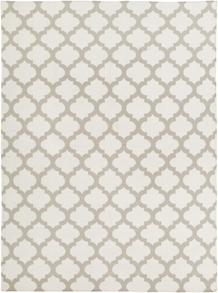 Frontier Contemporary Ivory Light Gray Fabric Area Rug (L 132 X W 96) FT120-811