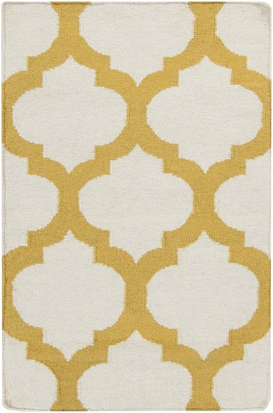 Frontier Contemporary Ivory Gold Fabric Area Rug (L 36 X W 24) FT121-23