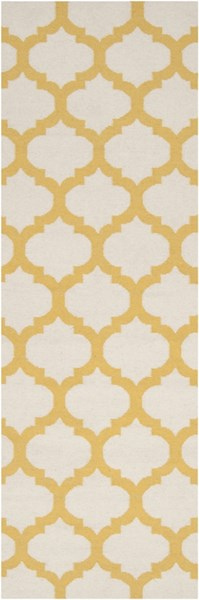 Frontier Contemporary Ivory Gold Fabric Runner (L 96 X W 30) FT121-268