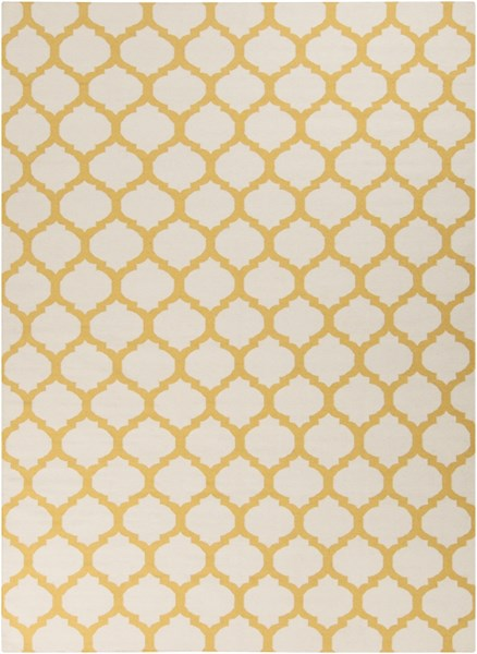 Frontier Contemporary Ivory Gold Fabric Area Rug (L 132 X W 96) FT121-811
