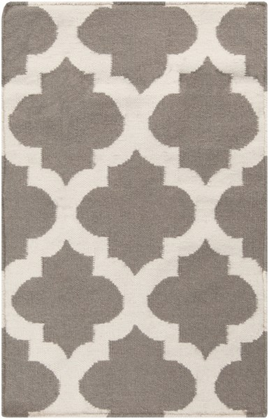 Frontier Gray Beige Fabric Rectangle Area Rug (L 36 X W 24) FT122-23