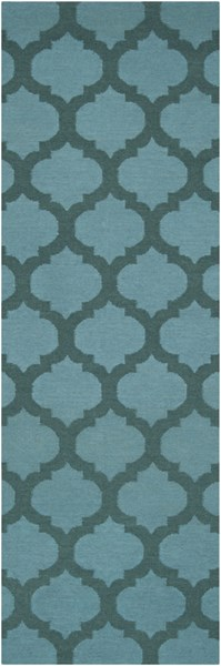 Frontier Contemporary Teal Forest Fabric Runner (L 96 X W 30) FT123-268