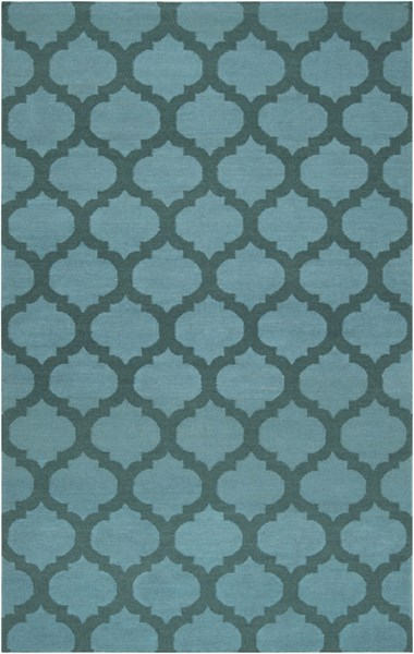 Frontier Contemporary Teal Forest Fabric Area Rug (L 96 X W 60) FT123-58