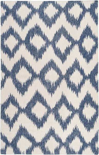 Frontier Navy Ivory Wool Area Rug (L 96 X W 60) FT165-58