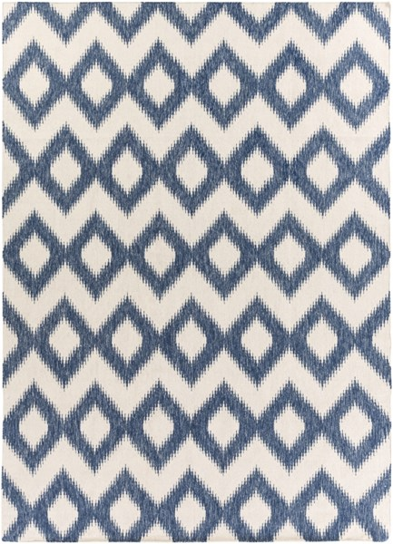 Frontier Navy Ivory Wool Area Rug (L 132 X W 96) FT165-811