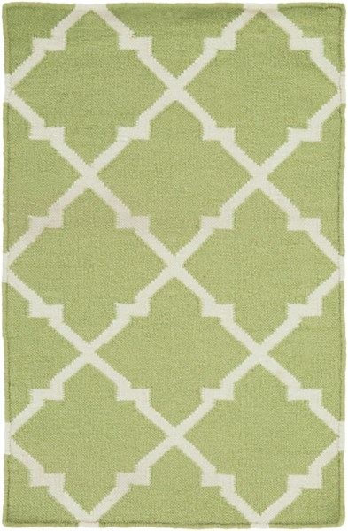 Frontier Contemporary Lime Ivory Wool Area Rug (L 36 X W 24) FT226-23