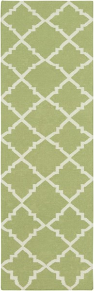 Frontier Contemporary Lime Ivory Wool Runner (L 96 X W 30) FT226-268