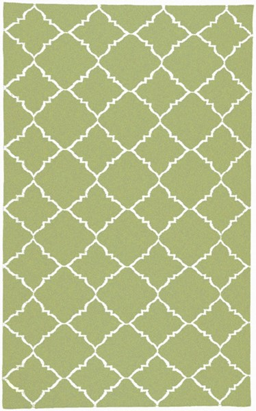 Frontier Contemporary Lime Ivory Wool Area Rug (L 96 X W 60) FT226-58