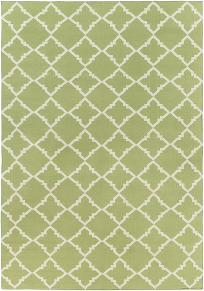 Frontier Lime Ivory Wool Geometric Area Rug (L 132 X W 96) FT226-811