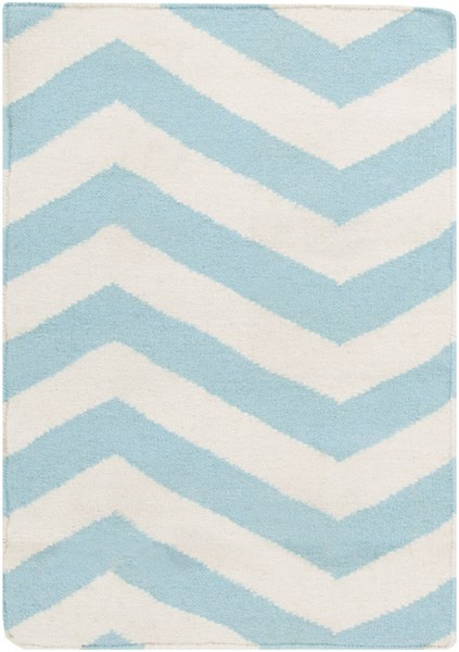 Frontier Ivory Mint Wool Area Rug - 24 x 36 FT277-23