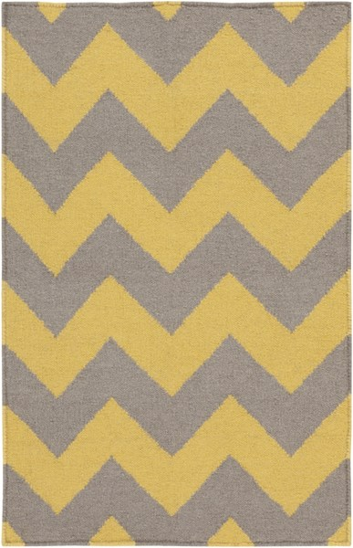 Frontier Gold Gray Wool Area Rug - 42 x 66 FT290-3656
