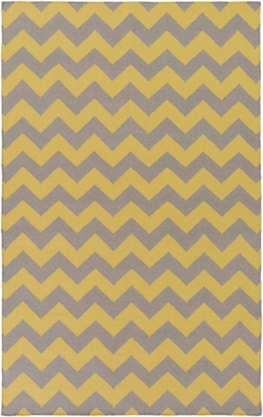 Frontier Gold Gray Wool Area Rug - 60 x 96 FT290-58