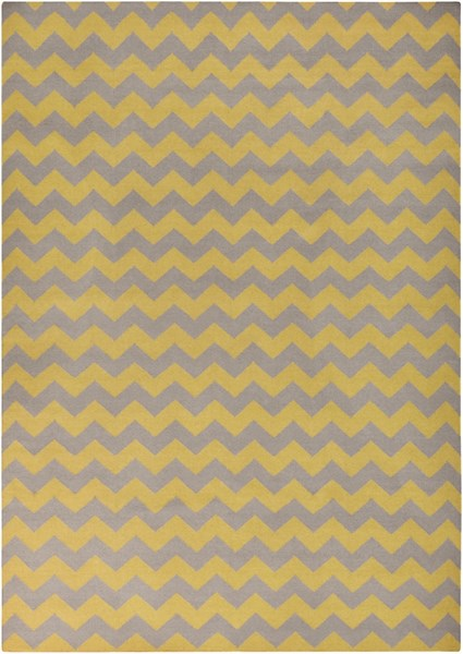 Frontier Gold Gray Wool Area Rug - 96 x 132 FT290-811