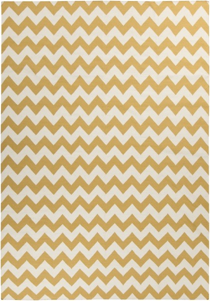 Frontier Ivory Sunflower Wool Area Rug - 96 x 132 FT291-811