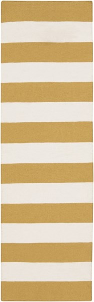 Frontier Contemporary Ivory Gold Wool Runner (L 96 X W 30) FT294-268