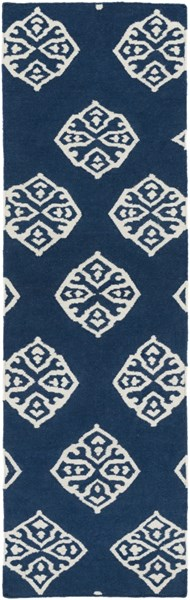 Frontier Contemporary Navy Ivory Wool Runner (L 96 X W 30) FT366-268