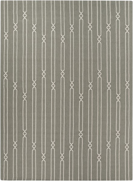 Frontier Contemporary Beige Moss Fabric Area Rug (L 132 X W 96) FT367-811