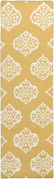 Frontier Gold Ivory Wool Runner - 30 x 96 FT376-268