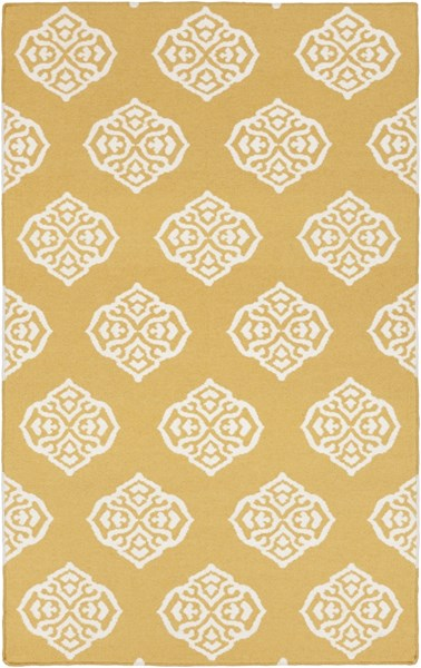 Frontier Contemporary Gold Ivory Wool Geometric Area Rug FT376-58