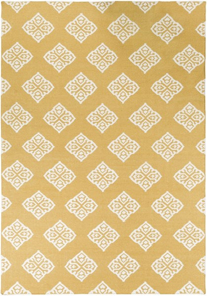Frontier Contemporary Gold Ivory Wool Hand Woven Area Rug FT376-811