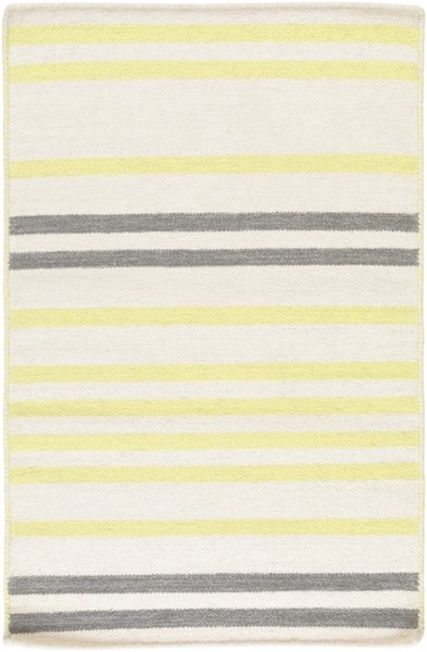 Frontier Contemporary Ivory Lime Moss Wool Area Rugs 714-VAR1