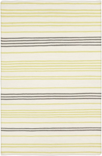 Frontier Ivory Lime Moss Wool Area Rug - 60 x 96 FT393-58