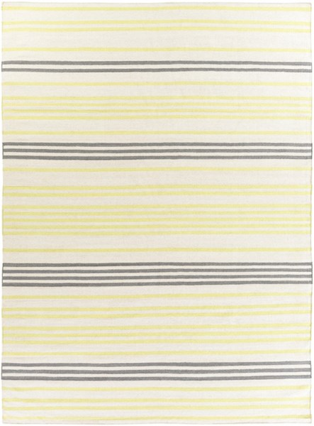 Frontier Ivory Lime Moss Wool Area Rug - 96 x 132 FT393-811