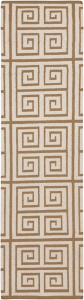Frontier Contemporary Mocha Ivory Wool Runners 715-VAR1