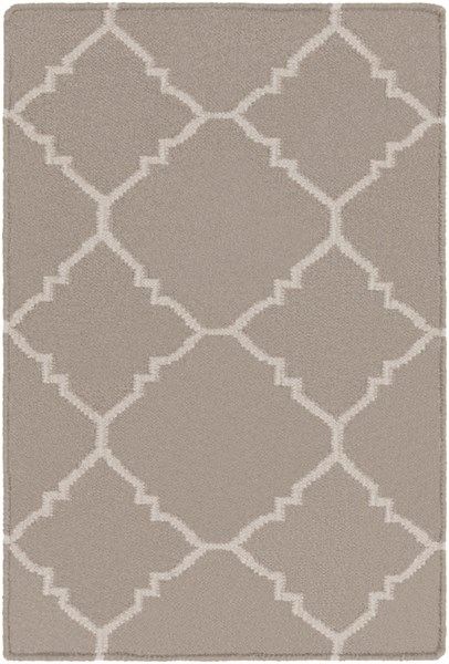 Frontier Taupe Gray Wool Area Rug - 24 x 36 FT42-23