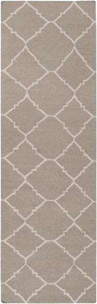Frontier Taupe Gray Wool Runner - 30 x 96 FT42-268