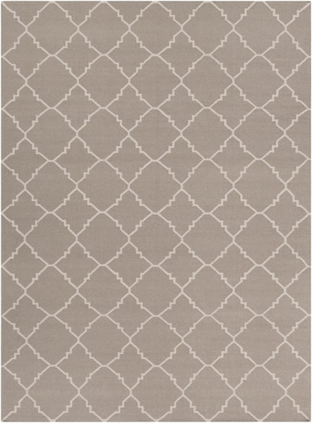 Frontier Taupe Gray Wool Area Rug - 96 x 132 FT42-811